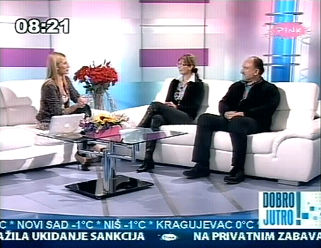 Ivana Kuzmanović i dr Zoran Milivojević na TV Pink